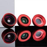 Kase Smartphone Lens Fashion Fish Eye Red_