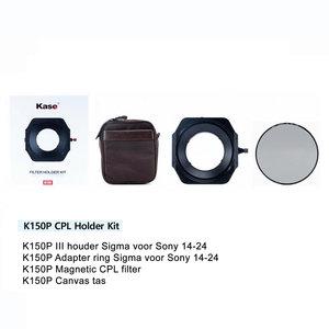 Kase K150P III Sigma 14-24 CPL KIT Sony Mount houder+CPL+tas